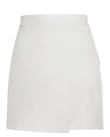 White Leather Mini Skirt