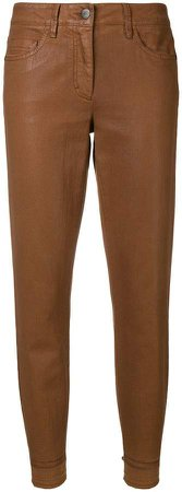 Luisa Cerano coated tapered leg jeans