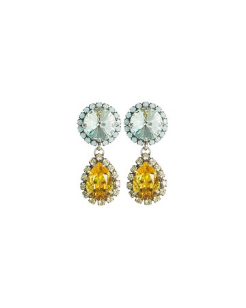 Monaco Crystal Drop Earrings