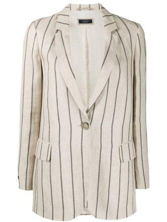 Peserico striped tailored blazer- Farfetch