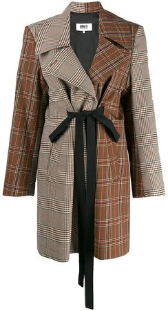 patchwork tweed coat