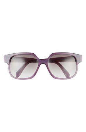 CELINE 59mm Gradient Rectangle Sunglasses | Nordstrom