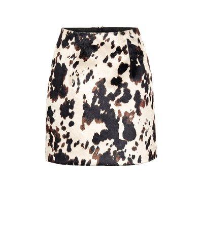 Cow-Print Miniskirt - AlexaChung | Mytheresa