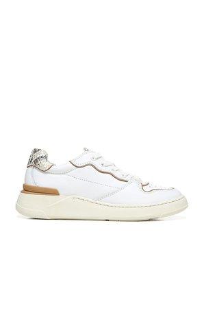 Veronica Beard Toma Sneaker in White & Sand   REVOLVE