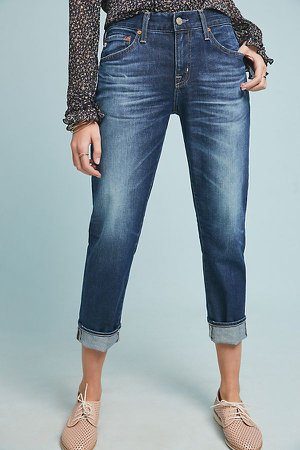 AG The Ex-Boyfriend Mid-Rise Cropped Jeans | Anthropologie
