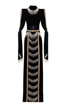 Raisa Vanessa Embroidered Knit Gown