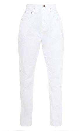 White High Waist Balloon Fit Jeans | Denim | PrettyLittleThing