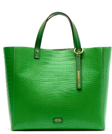 Margaret Embossed Leather Tote