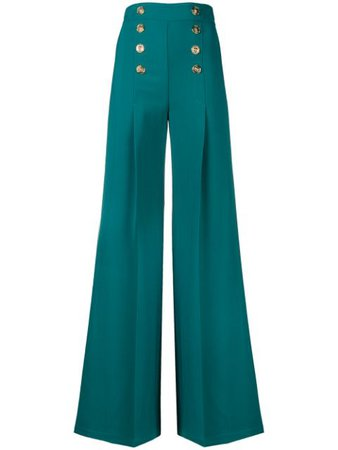 Elisabetta Franchi nautical palazzo pants $534 - Buy Online - Mobile Friendly, Fast Delivery, Price