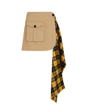 Monse Pleated Tartan Cargo Mini Skirt | INTERMIX®