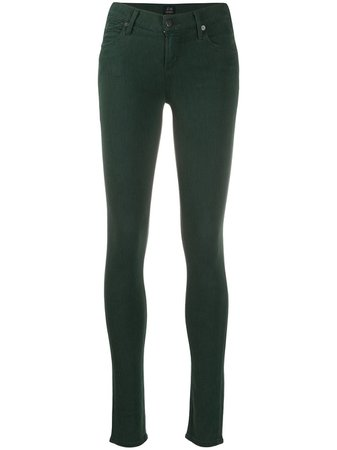 Green Citizens of Humanity high-rise skinny jeans 1300 - Farfetch
