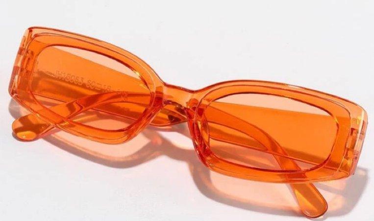 "Acrylic ""Orange"" Tinted Sunglasses"