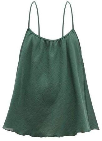 Scoop Cotton Matelasse Cami Top - Womens - Green