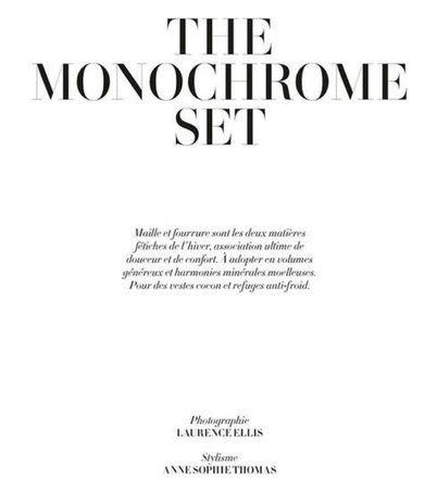 the monochrome set text