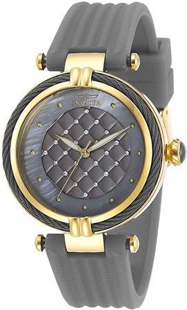 Invicta Women's Bolt Stainless Steel Quartz Polyurethane Strap, Grey, 18 Casual Watch (Model: 28944): Watches