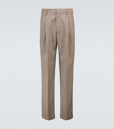 Marni, Houndstooth pleated wool pants