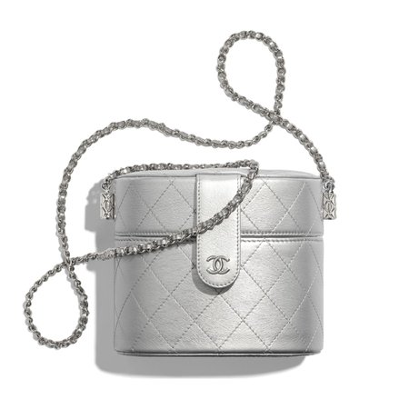 Chanel-Silver-Metallic-Lambskin-Clutch-with-Chain-Bag.jpg (1240×1240)