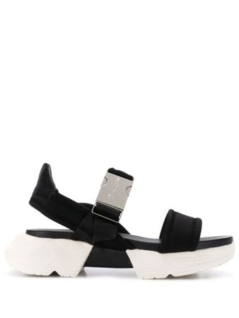 Shop black Baldinini chunky sole sandals with Express Delivery - Farfetch