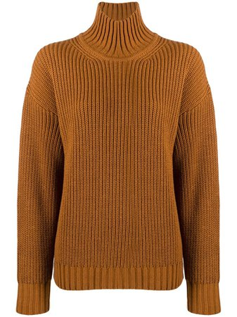 MSGM Turtleneck Ribbed Jumper - Farfetch