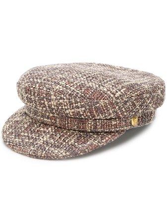 Manokhi Tweed Biker Hat | Farfetch.com