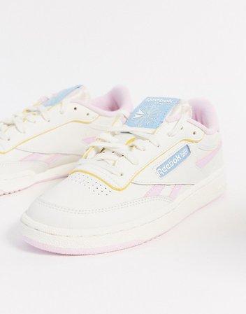 Reebok Club C sneaker in white and pink | ASOS