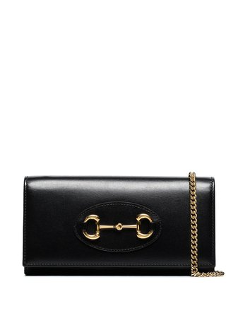 Gucci Horsebit Chain Wallet Bag 6218880YK0G Black | Farfetch