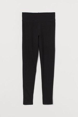 Cotton Leggings - Black