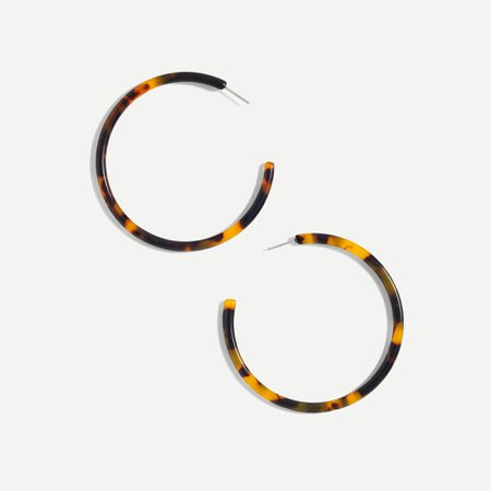 J.Crew: Tortoise Hoop Earrings For Women