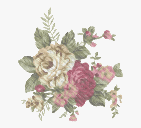 Tumblr Static Vintage Flower Print Stock By Candy Lace - Vintage Tumblr Flower Png, Transparent Png - kindpng