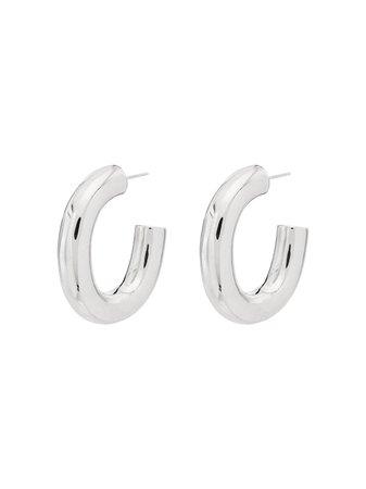 Loren Stewart Bubble Sterling Silver Hoop Earrings - Farfetch