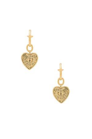 The Angelica Heart Hoop Earrings