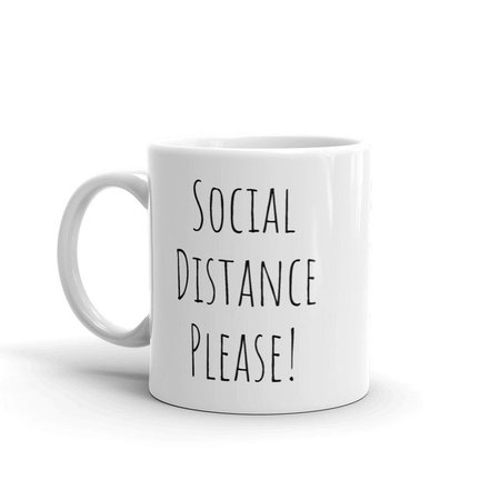 Social Distance Please Mug For The Office | Etsy