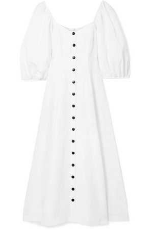 Mara Hoffman   Mika off-the-shoulder Tencel and linen-blend midi dress   NET-A-PORTER.COM