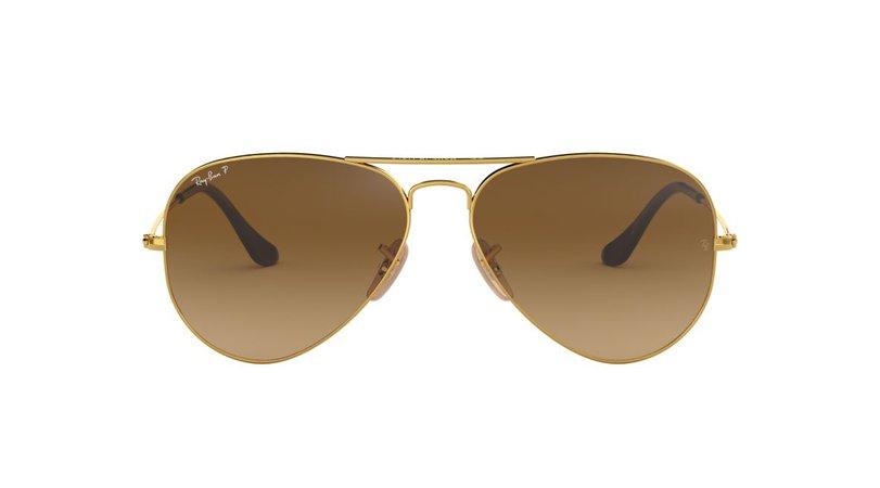 Brown Aviators Sunglasses