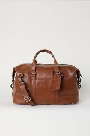 Weekendbag aus Leder - Braun - Men   H&M DE