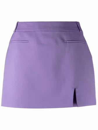 The Attico slit-detail Tailored Mini Skirt - Farfetch