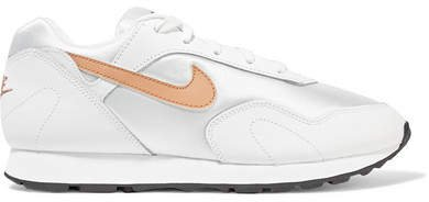 Outburst Leather And Mesh Sneakers - White