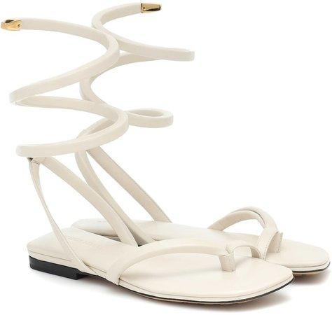 Spiral thong sandals
