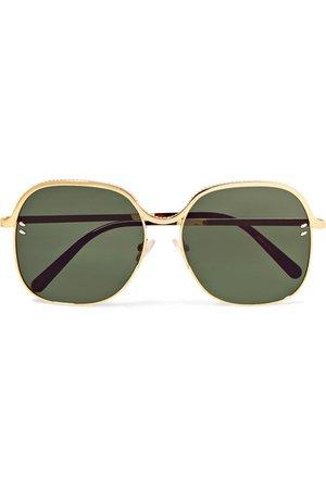 Stella McCartney | Square-frame gold-tone and acetate sunglasses | NET-A-PORTER.COM