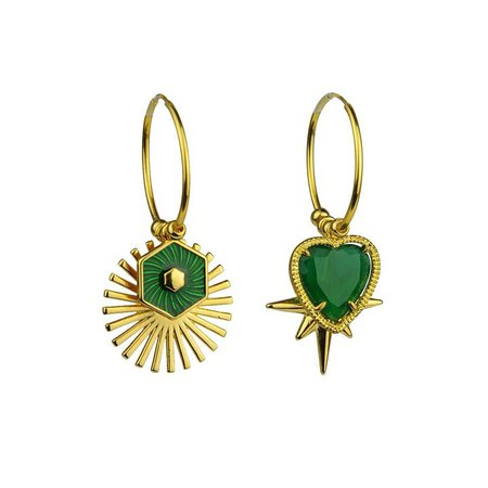 Drusilla Hoop Earrings with Charms – Katerina Psoma