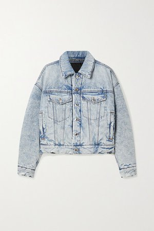 Padded Denim Jacket - Light denim