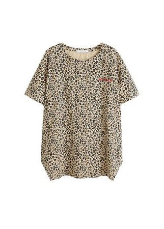 Violeta BY MANGO Leopard-print t-shirt