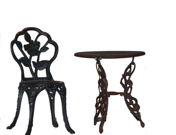Black Filler png table and chair