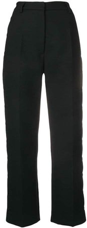 snap-fastened tailored trousers