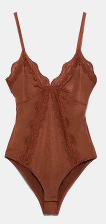 zara lingerie style bodysuit