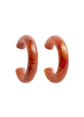 MANGO Resin hoop earrings