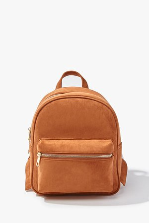 Faux Suede Backpack   Forever 21