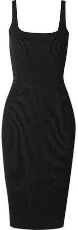 Pinnacle Ribbed-knit Dress - Black