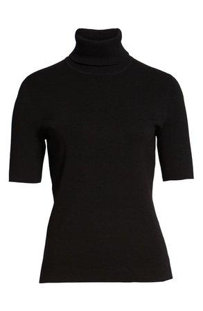 Anne Klein Short Sleeve Turtleneck Sweater | Nordstrom