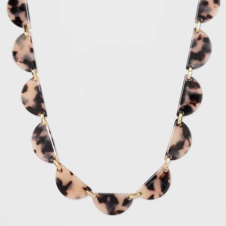 Clear Acrylic Statement Necklace - A New Day™ Tortoise/Gold : Target